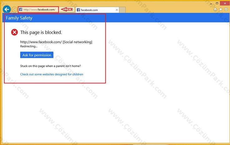 bilgisayardan site engelleme windows 8.1