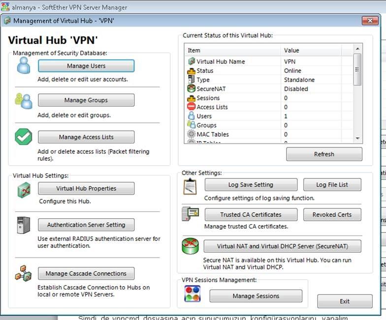 Centos Üzerinde SoftEther VPN Kurulumu ve Yapılandırma - ÇözümPark