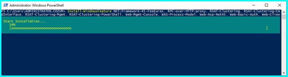 Exchange Server 2019 Preview' in Windows Server 2016 Üzerine