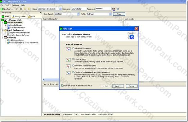 Download gfi languard network security scanner