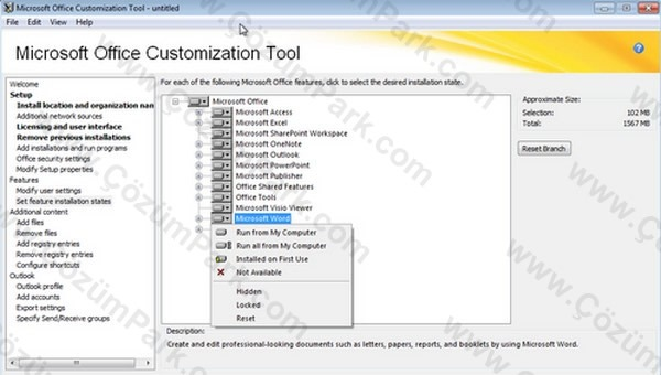 Microsoft ofis r n ailesi office customization tool oct ile office 2010 kurulumunun - Office customization tool ...