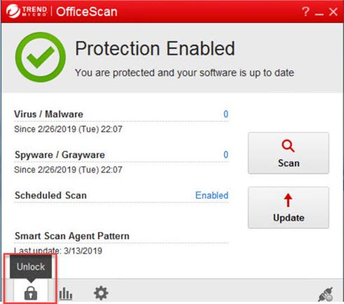 Unload Officescan