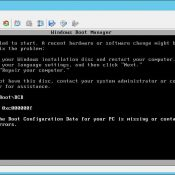 The Boot Configuration Data for your PC is missing or Contains Errors – 0xc000000f