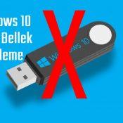 Windows 10 İşletim Sistemi Üzerinde İstenilen Flash Belleğe İzin Vermek veya Engellemek