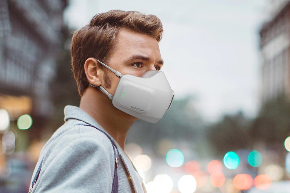 Lg hava filtreli fanlı maske