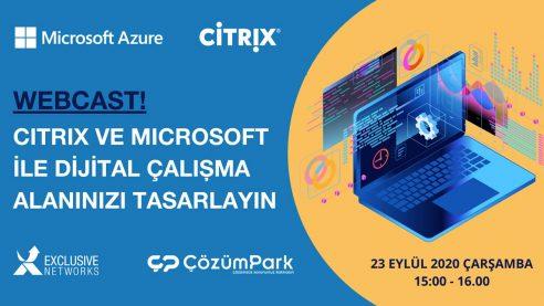 Citrix ve Microsoft ile Dijital Çalışma Alanınızı Tasarlayın
