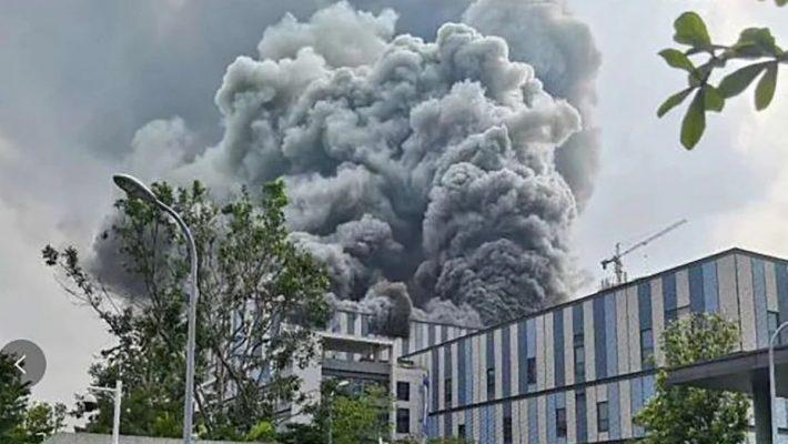 huawei tesisinde yangın