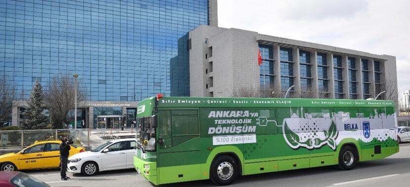 ankara büyükşehir belediyesi elektrikli otobüs