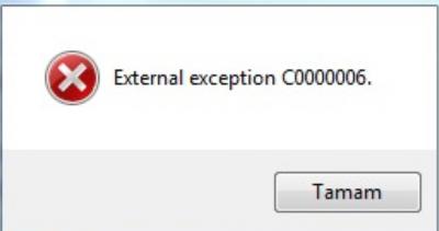 external exception